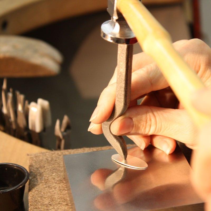 Werktisch Handarbeit Stempel
