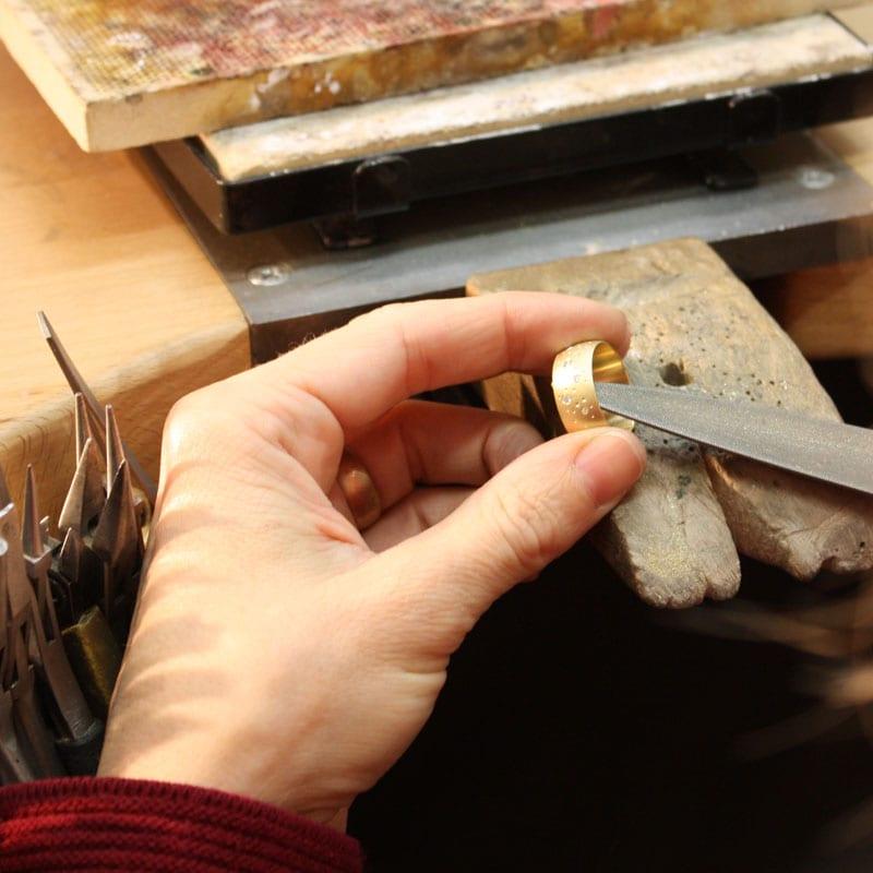 Handarbeit Werktisch Feile Ring