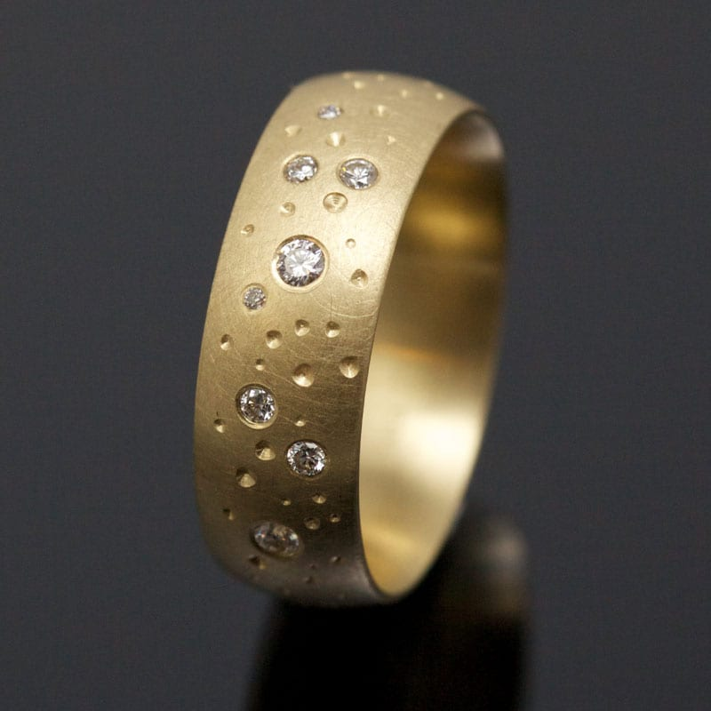 Ring Gold Brillanten Sternenhimmel